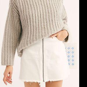 Free People | Zip It Up Mini Skirt